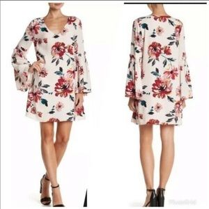 1.State Floral Bell Sleeve Swing Dress NWT